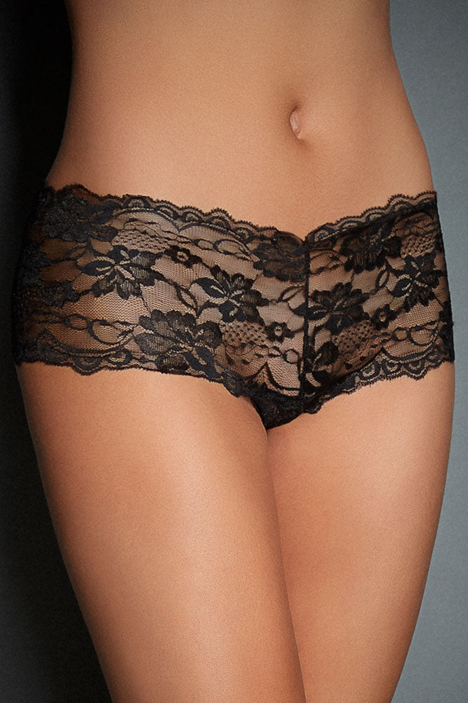 Black Lace Naughty Knicker