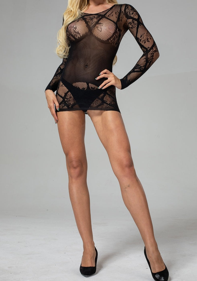 Long Sleeved Chemise Lingerie