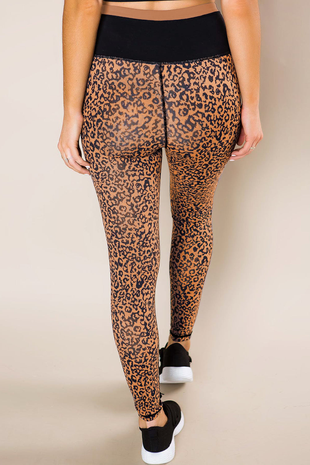 Mocha Leopard Print Active Leggings
