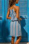 Sky Blue Striped Tank Tunic Dress