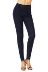 Navy Blue Elastic Waist Jeans Stretch Pants for Women