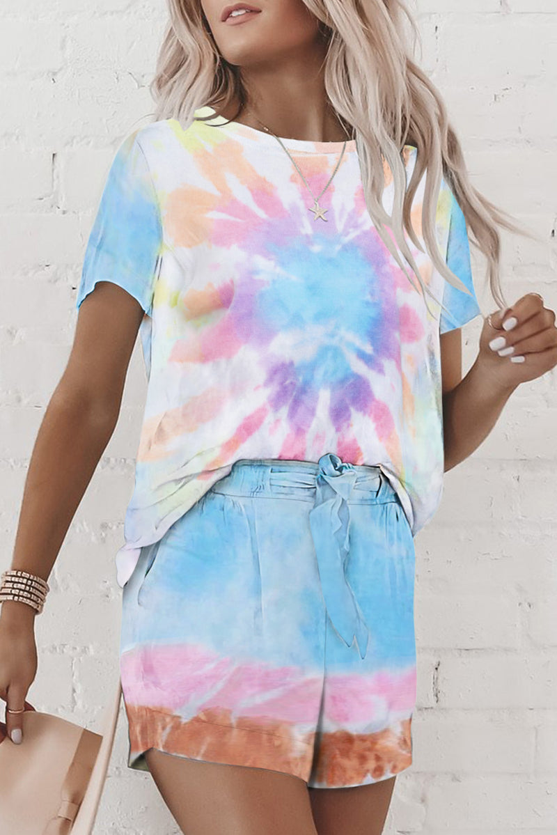 Multicolor Tie Dye Lounge Set