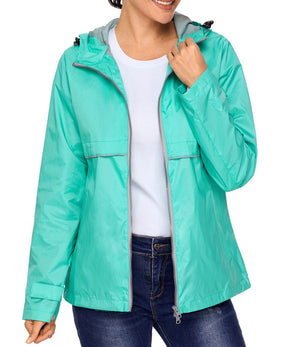 Mint Women Zipper Lapel Suit Blazer with Foldable Sleeve