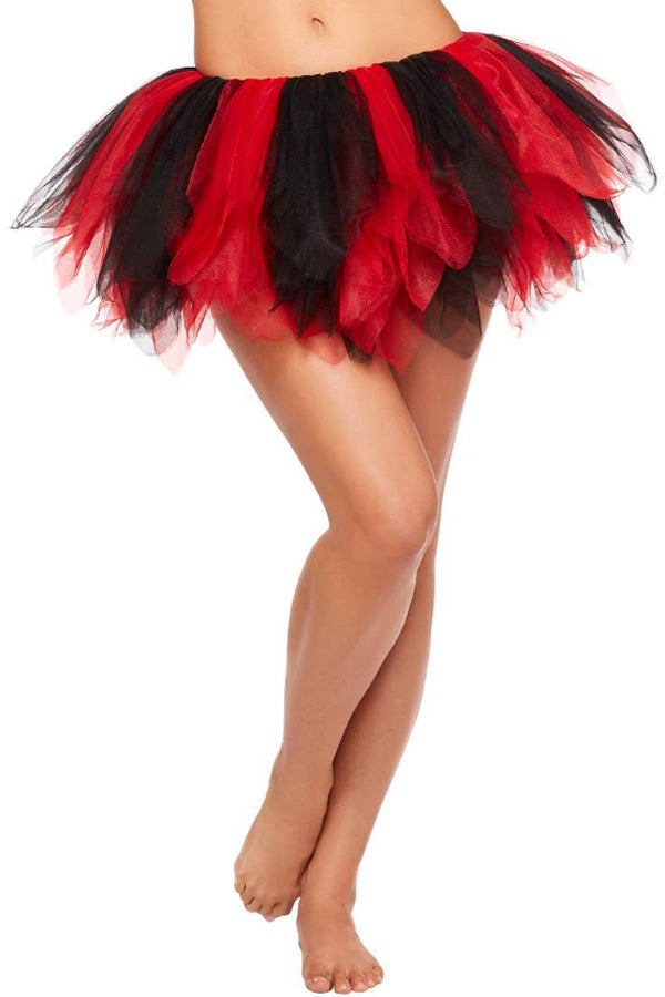 Red Black Vintage Tutu Skirt