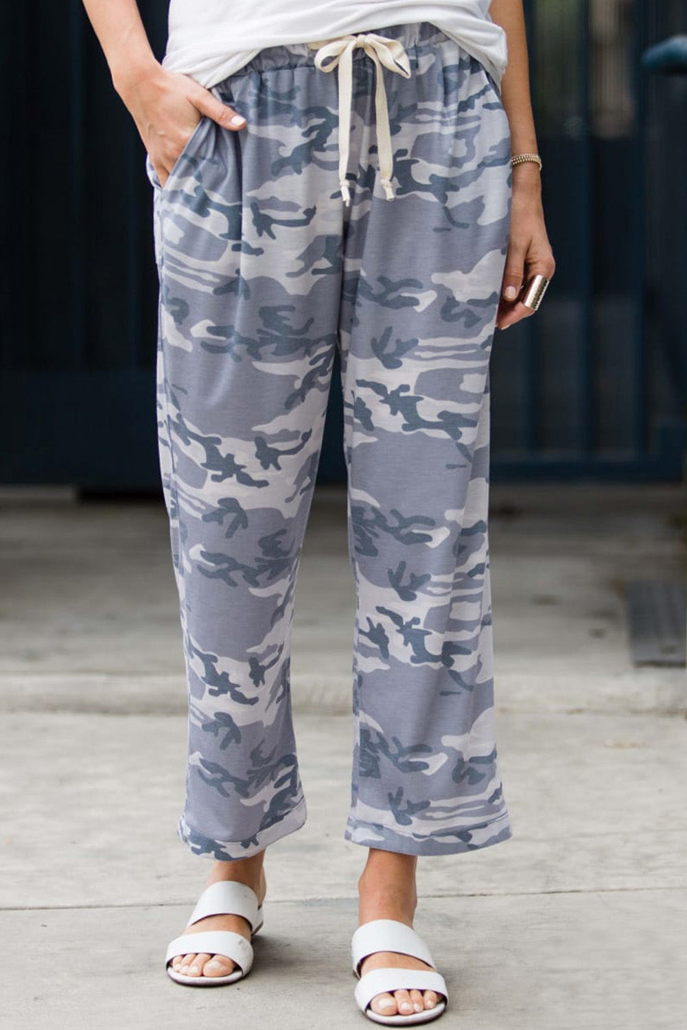Gray Camouflage Lounge Pants