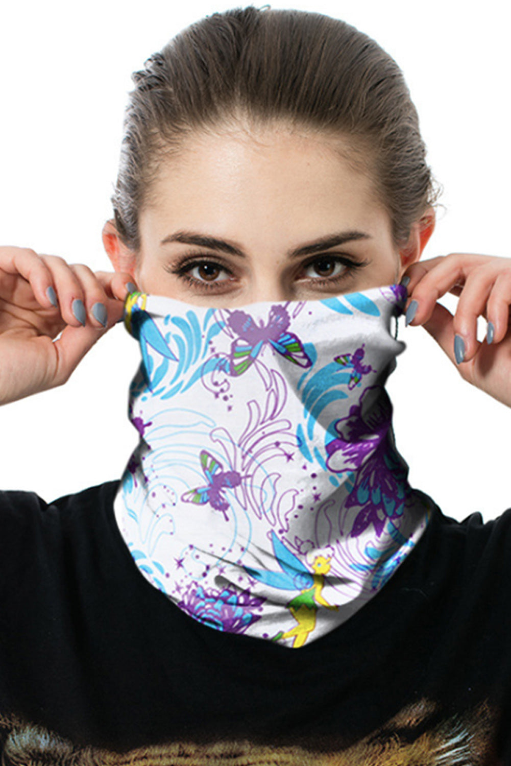 Butterfly Print Outdoor Cycling Sport Headscarf Neckerchief Face Mask