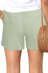 Green Casual Drawstring Pocket Shorts
