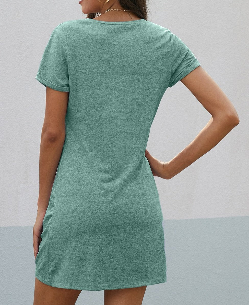 Green The Triblend Side Knot Dress