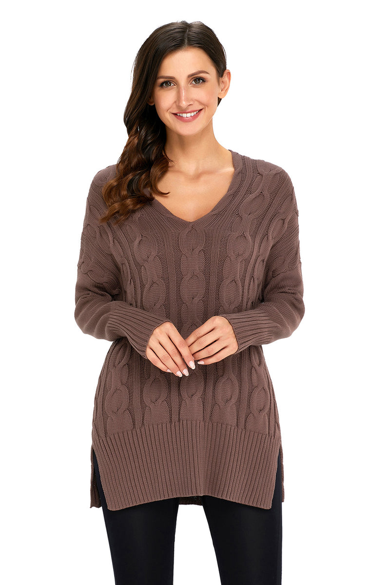 Mocha Oversized Cozy up Knit Sweater