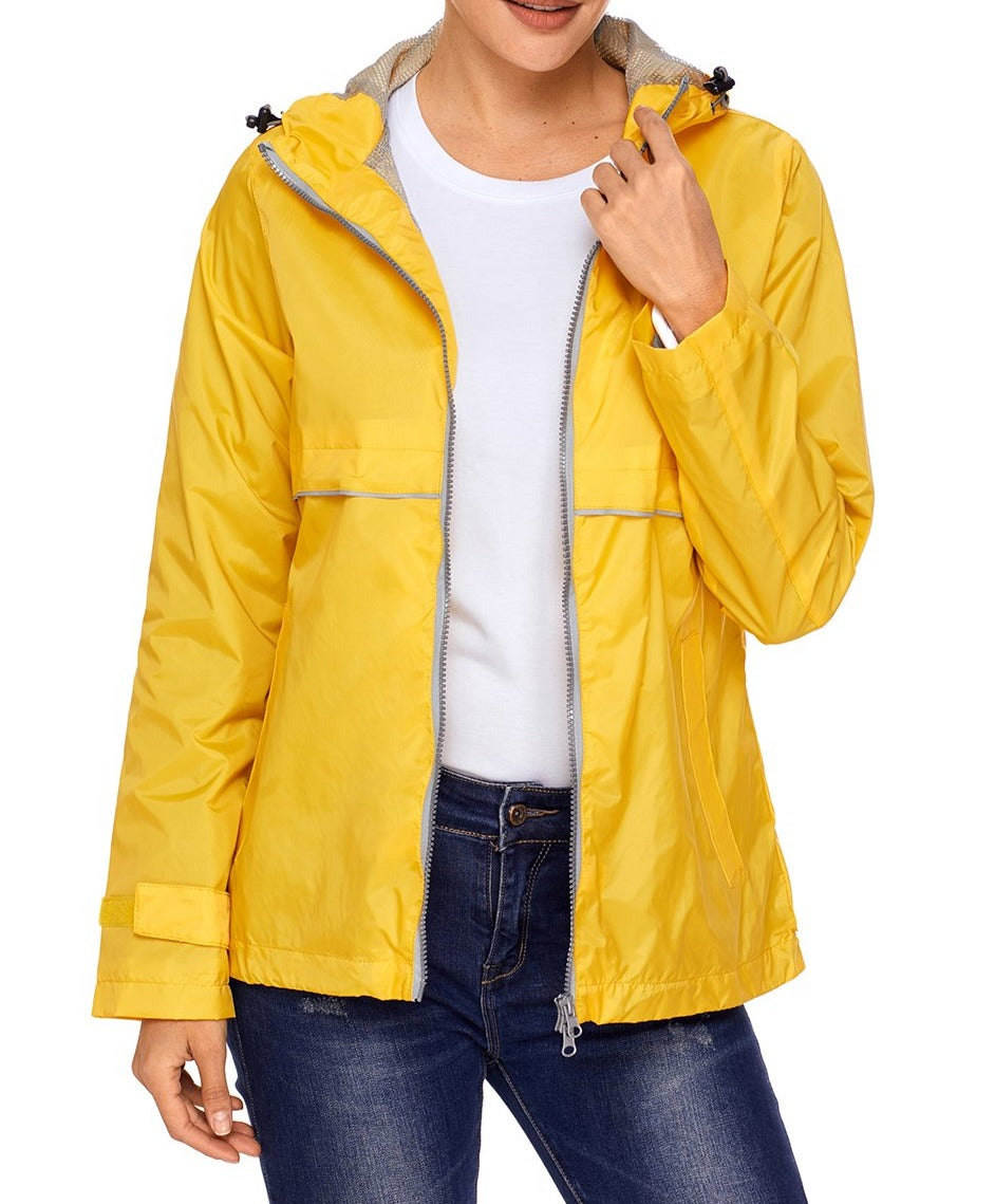 Mustard Women Zipper Lapel Suit Blazer with Foldable Sleeve