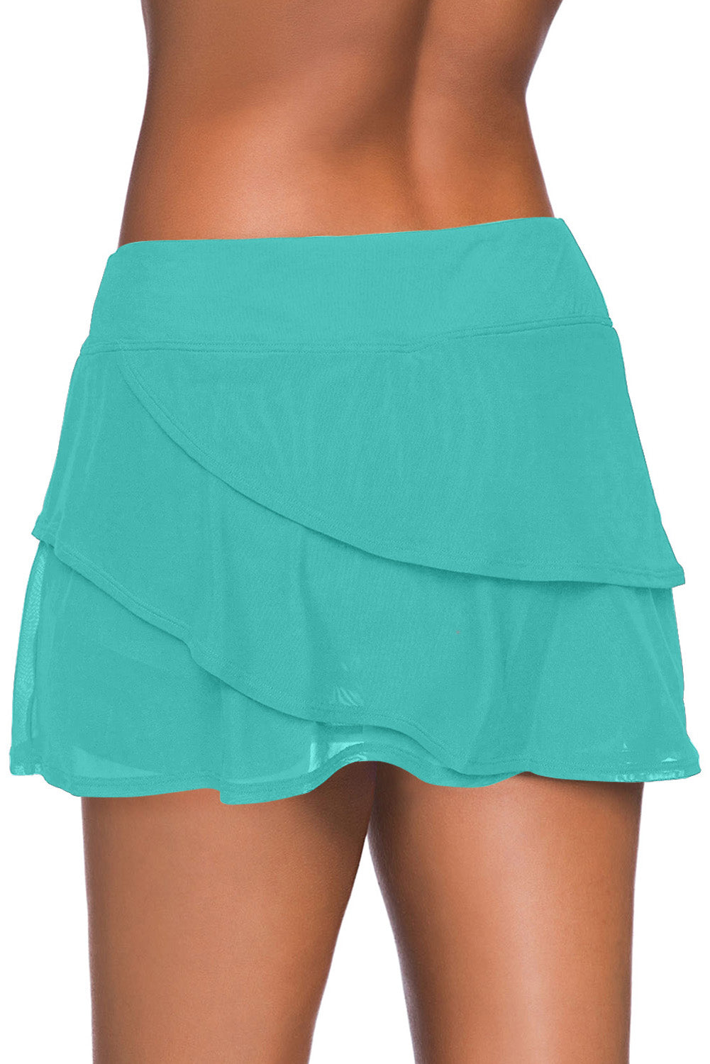 Green Tiered Swim Culotte