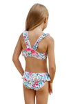 Cute Frill Printed Little Girls Bikini