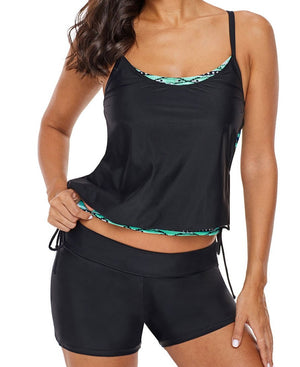 Turn Out Double Up Tankini Swim Top