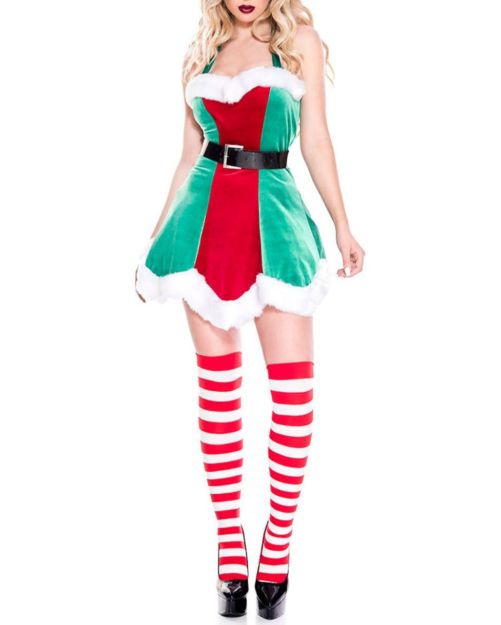 Green North Pole Elf Christmas Costume
