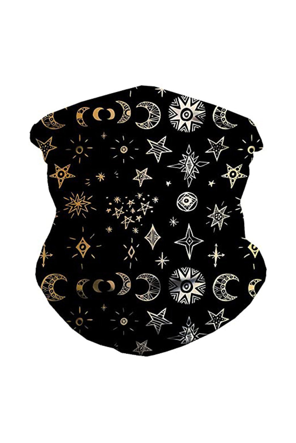 Black Cute Seamless Face Bandana Neck Gaiter