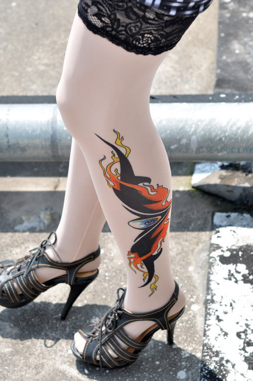 Ghost Eyes Tattoo Stockings