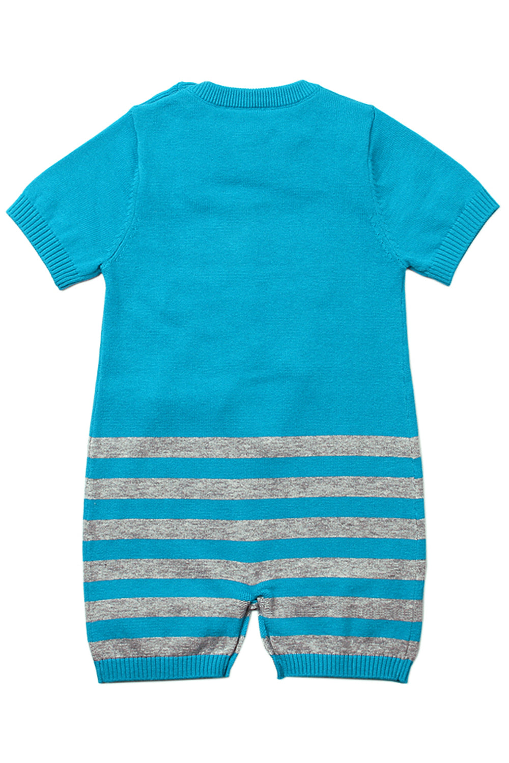 Blue Cute Cloud Pattern Knit Newborn Baby Romper