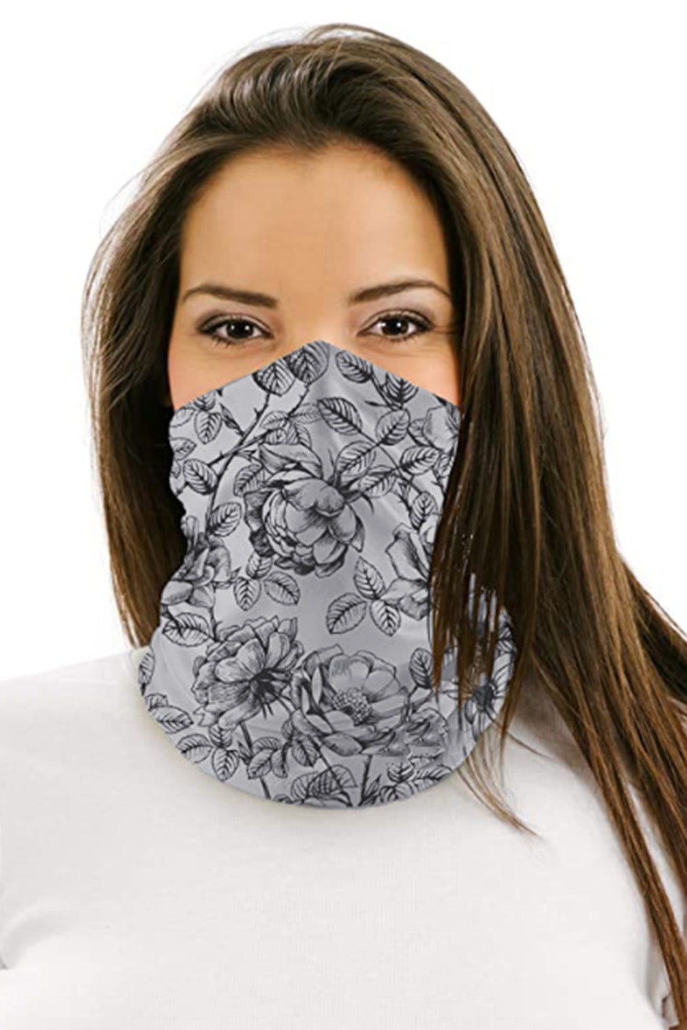 Vintage Floral Multifunctional Headwear Face Mask Headband Neck Gaiter