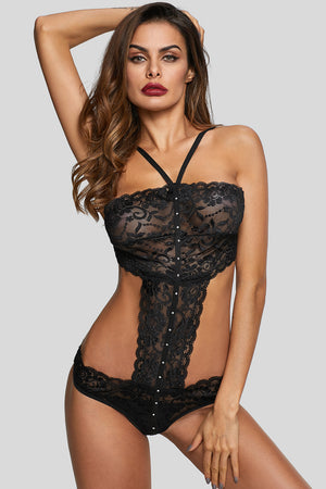 Romantic Black Teddy Lingerie