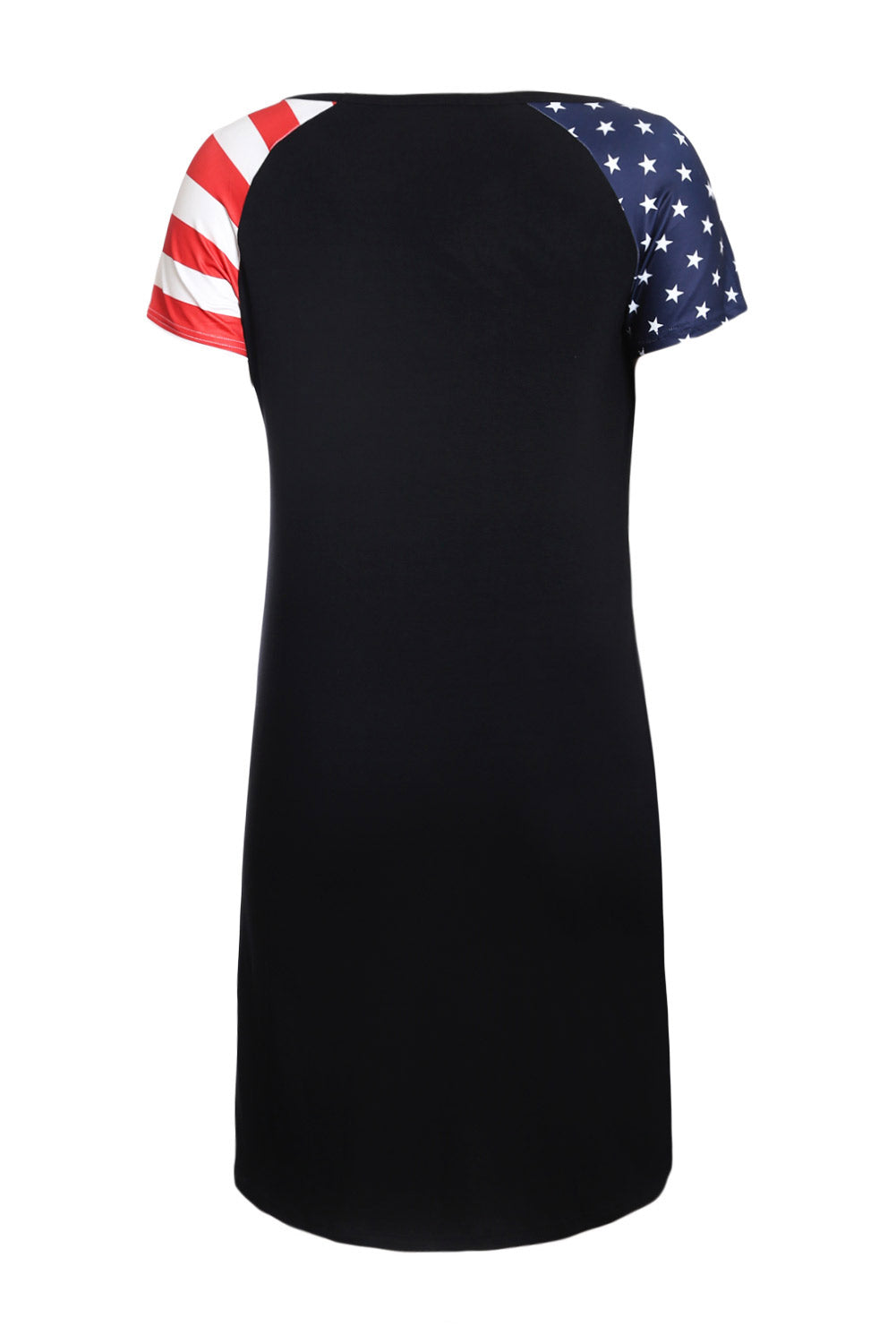 Black Patriotic Tee Dress