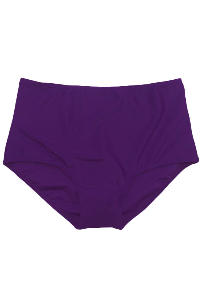Purple Beach Fashion High Waist Bikini Bottom