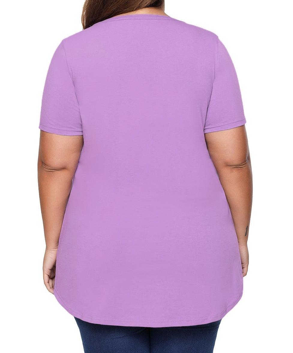 Lilac Plus Size Pin Tuck Jersey Top