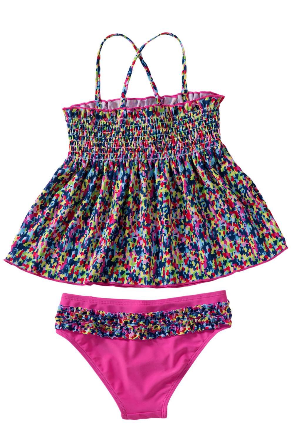 Little Girls' Boho Two Piece Swimsuit Set