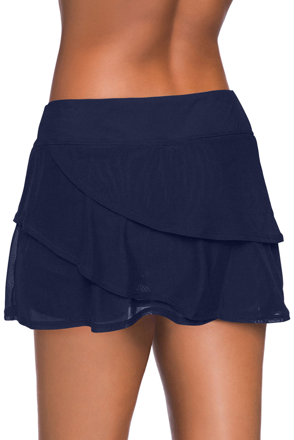 Blue Tiered Swim Culotte