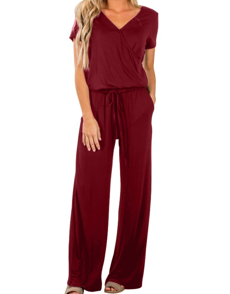 Wine Casual Lunch Date Jumpsuit