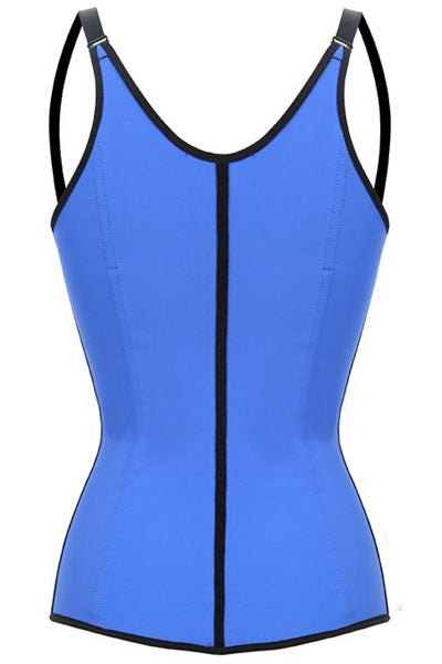 Blue Steel Boned Latex Waist Trainer Vest