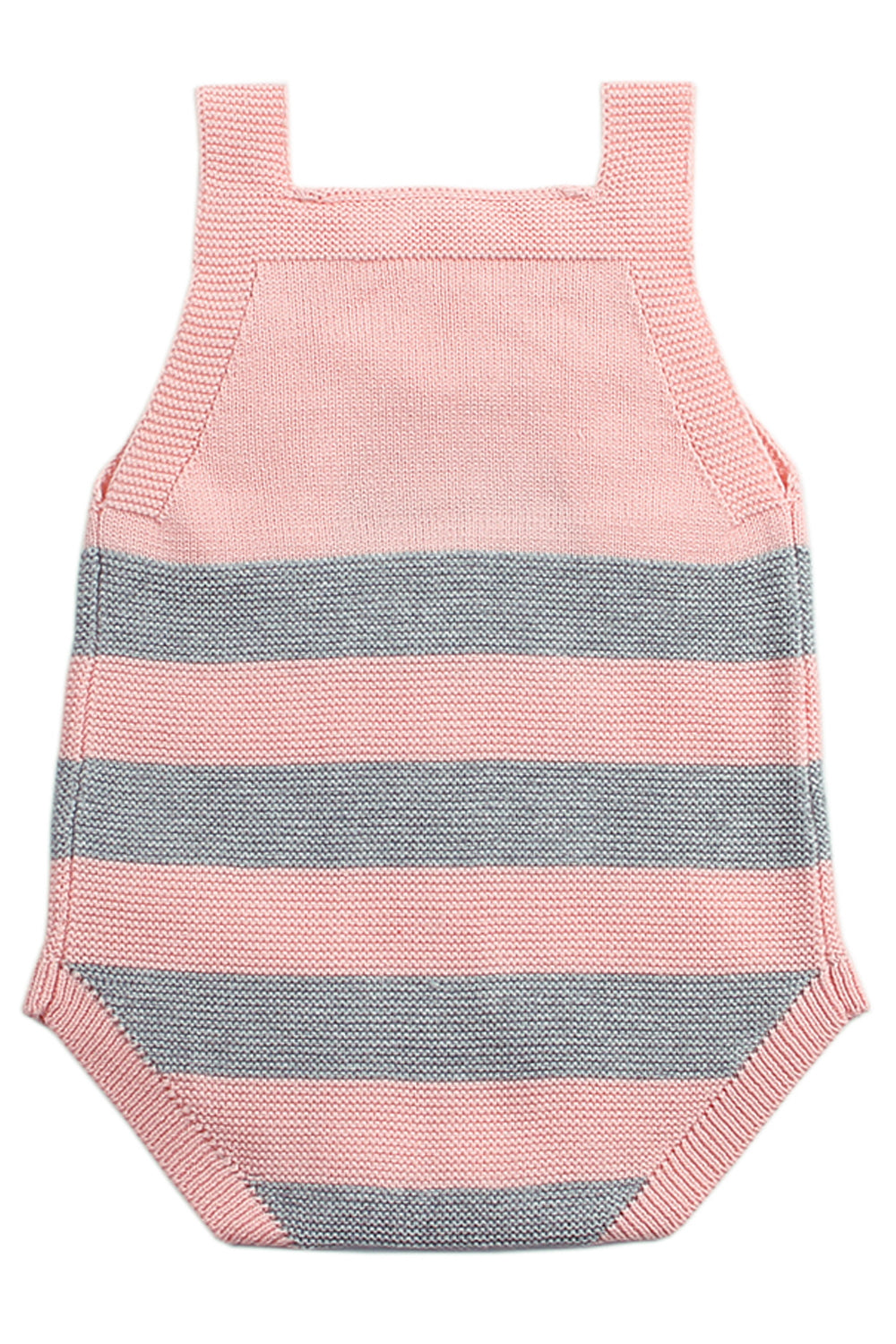 Pink Rainbow Pattern Knit Baby Onesies