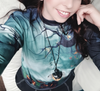 Green Halloween Element Print Sweatshirt