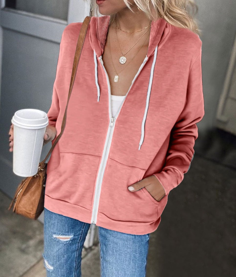 Pink Zip-up Hoodie Jacket