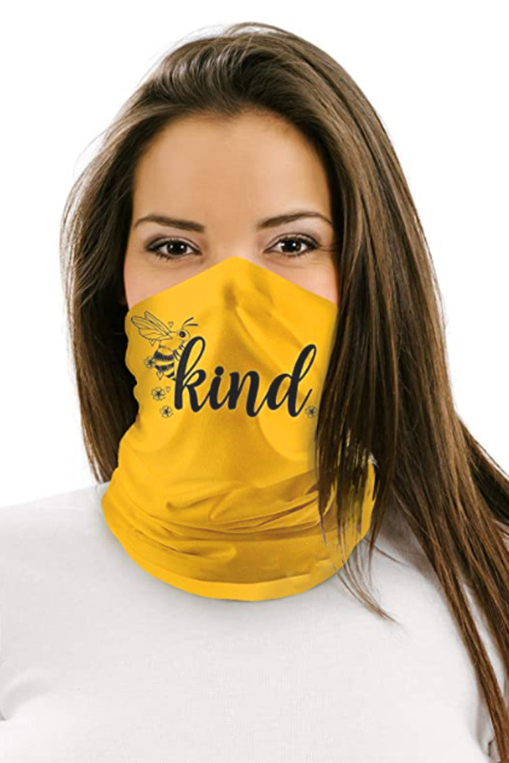 Yellow Multifunctional Headwear Face Mask Headband Neck Gaiter