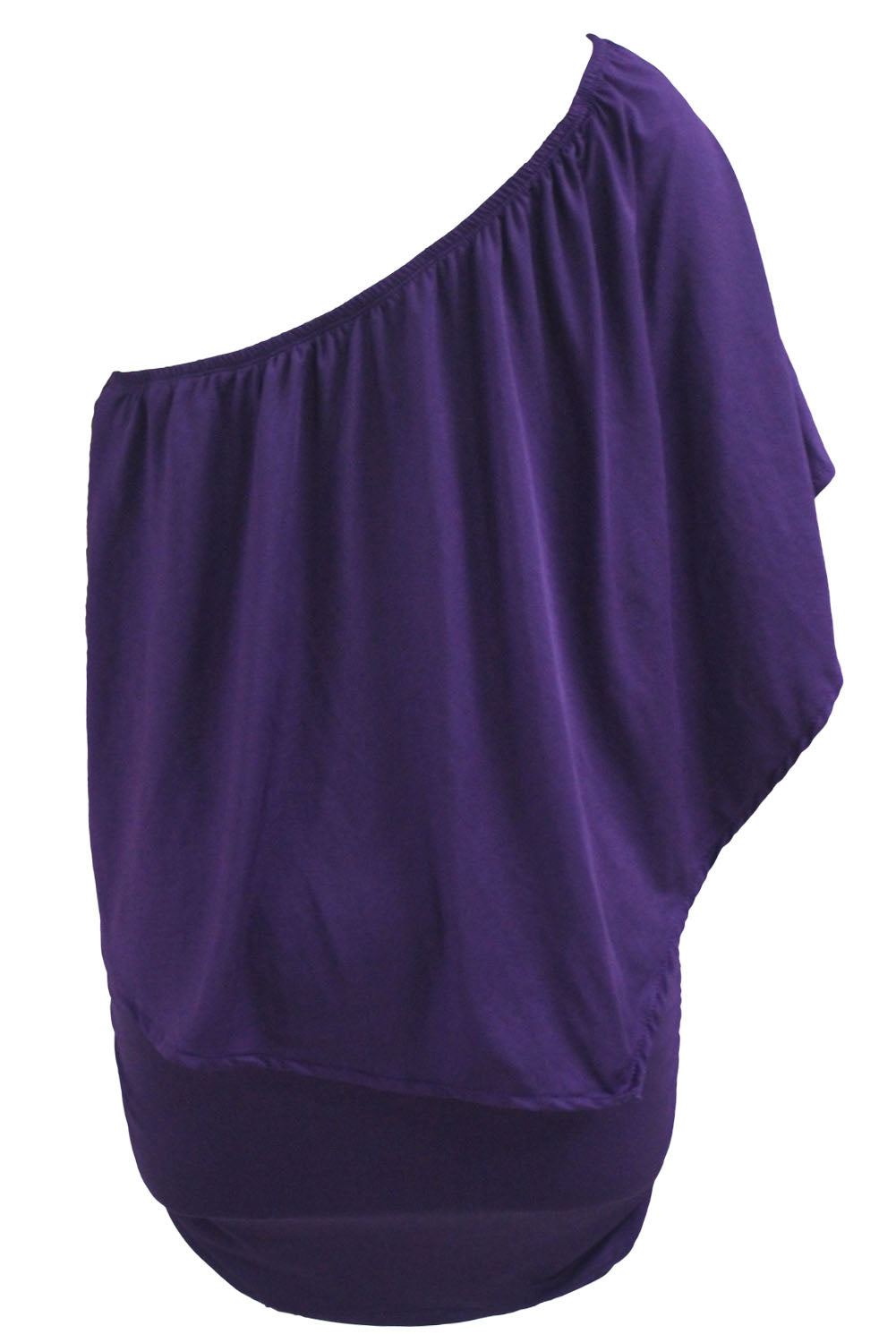 Plus Size Multiple Dressing Layered Purple Mini Poncho Dress