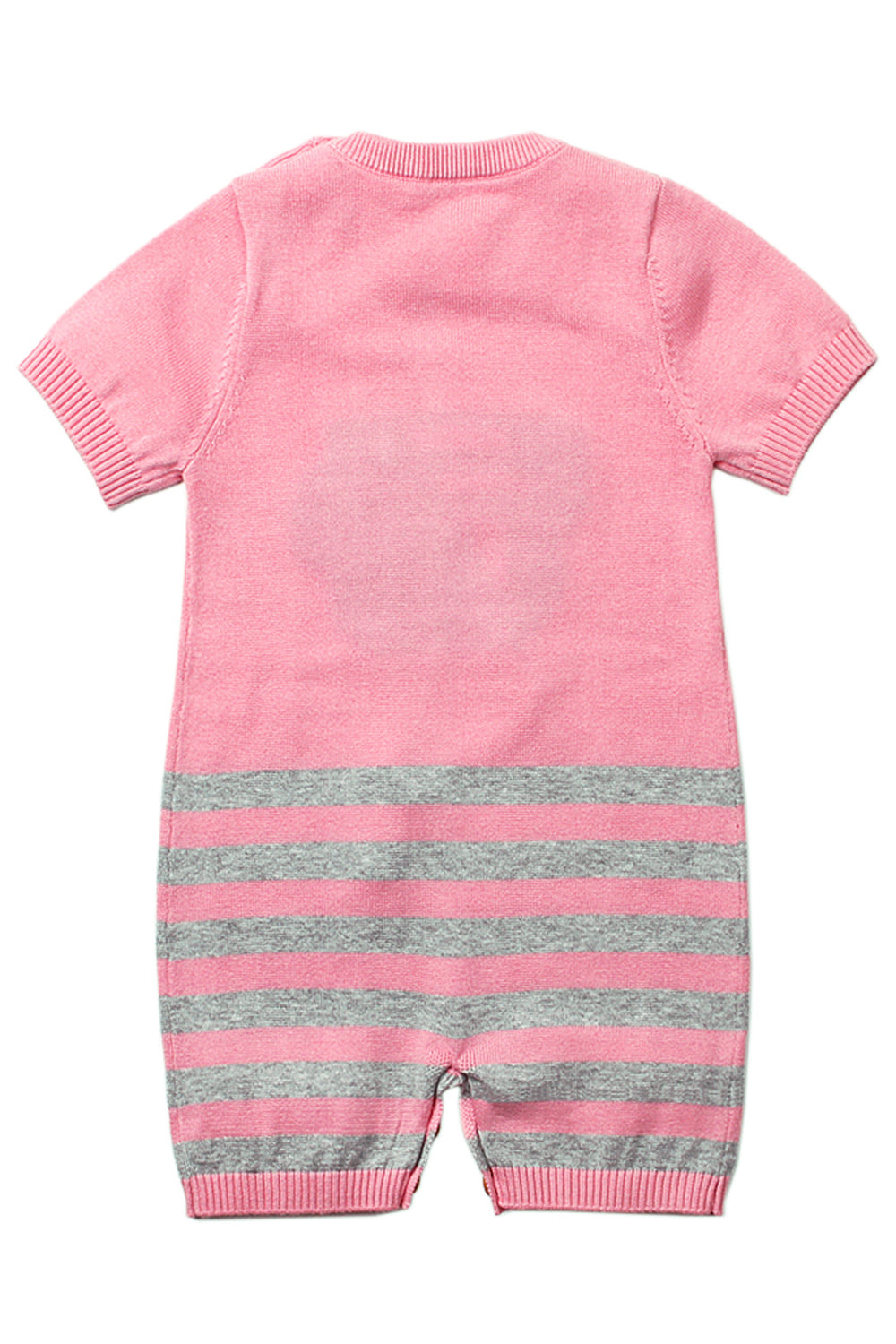 Pink Cute Cloud Pattern Knit Newborn Baby Romper