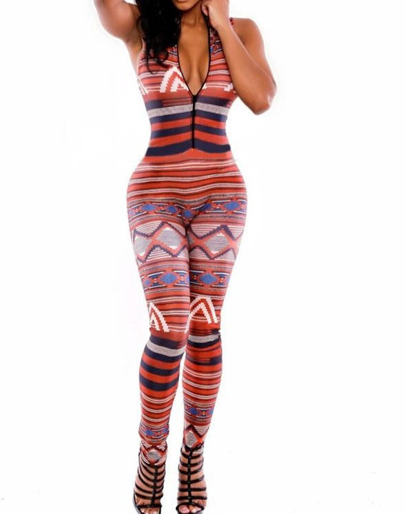 The Moroccan Tribal Bodycon Jumpsuit