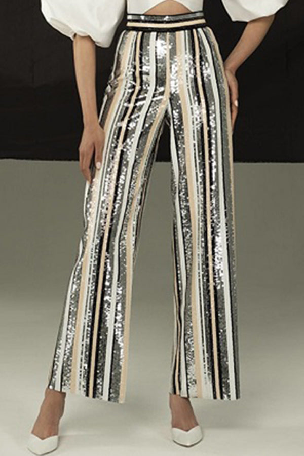 Sequined Evening Party Club Pants