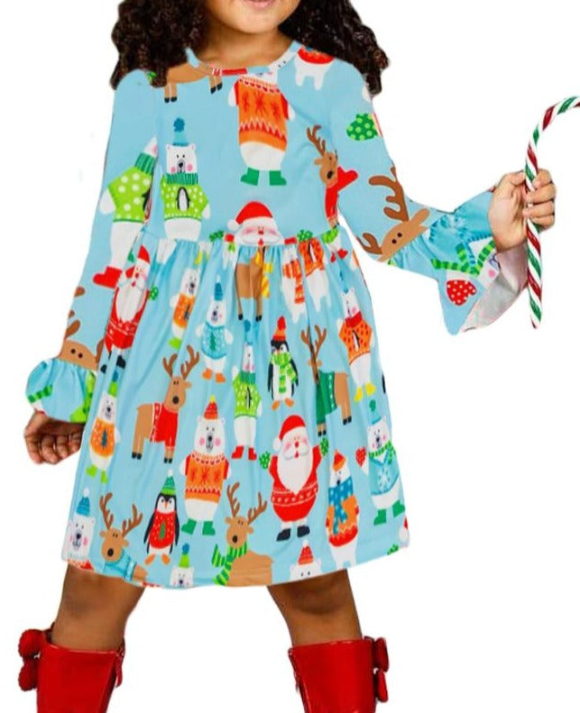 Holiday Friend Christmas Little Girl Dress