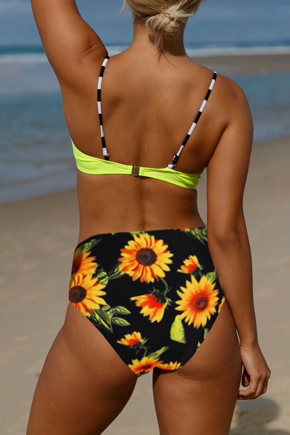 Yellow Sexy Push Up High-waisted Bikini