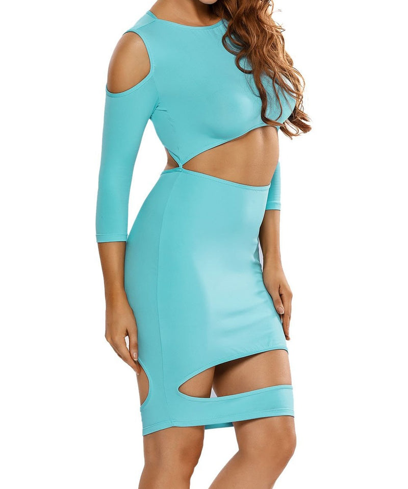 Sexy Devastating Hollow outs Bodycon Dress
