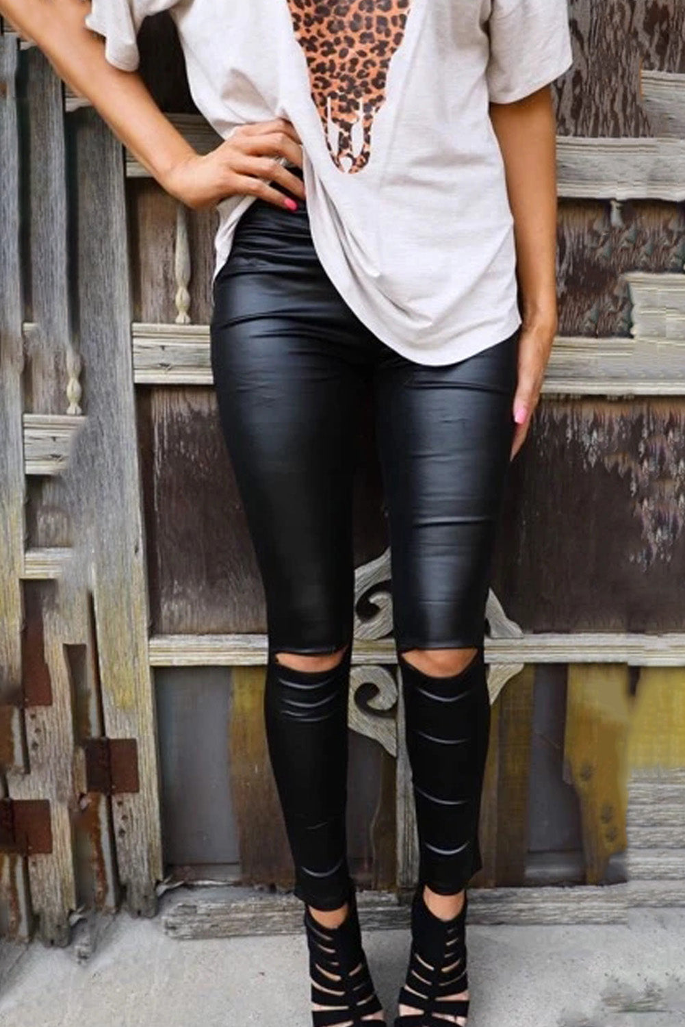 Black Skinny Faux Leather Leggings
