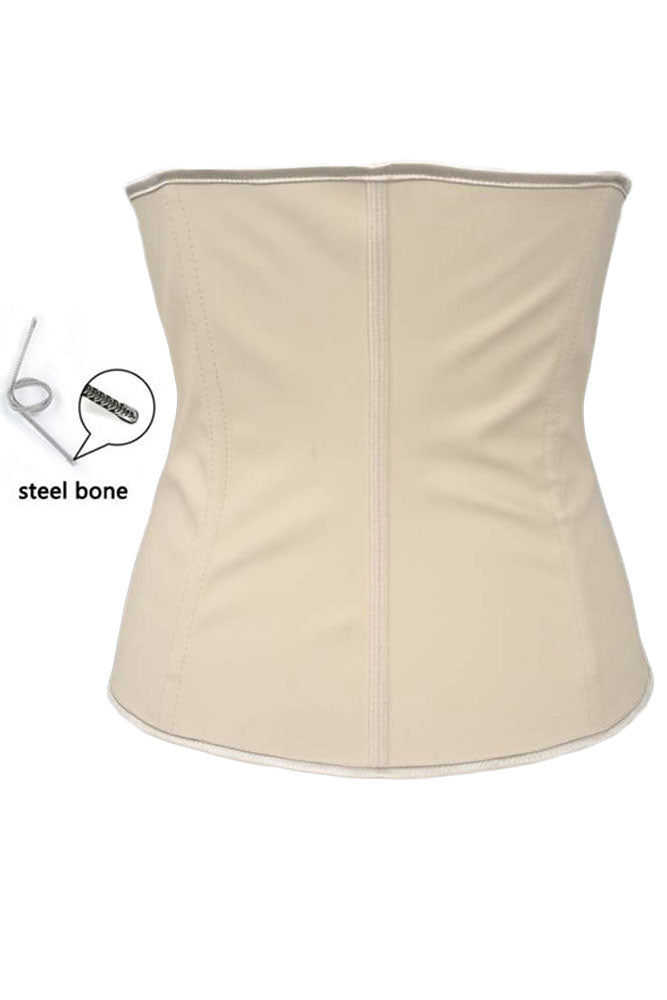 Apricot Plus Size 4 Steel Bones Latex Under Bust Corset