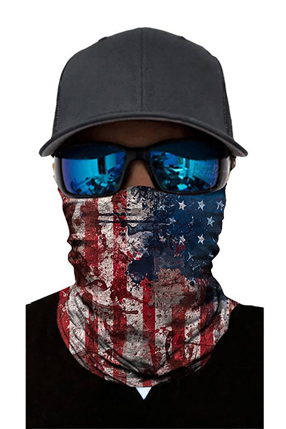 Tie Dye Flag Print Windproof Shield Bandanas Unisex Neck Gaiter
