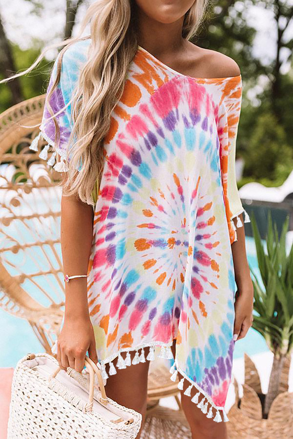Multicolor Soakin' Up The Sun Tie Dye Tunic