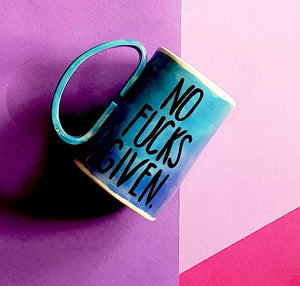 No F#@ks given mug - Blue