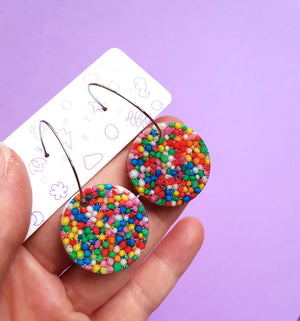 Fairy bread circle hoops