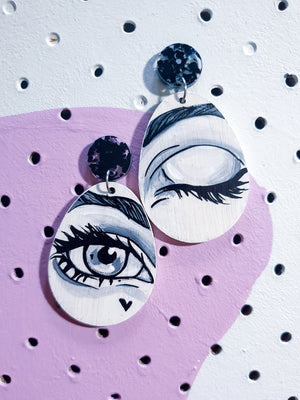 'Anime eyes' (black) - dangles