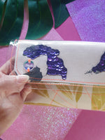 Mini clutch - Jungle Jangle with sequins