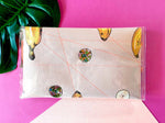 Midi clutch - Nanarama (latte) with sequins